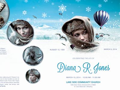 Winter Goodbye Funeral Program Template 010