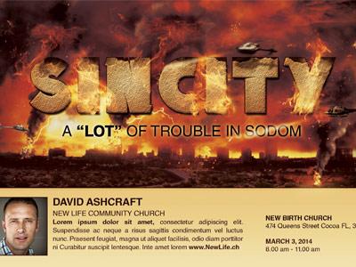 Sincity church flyer template 400