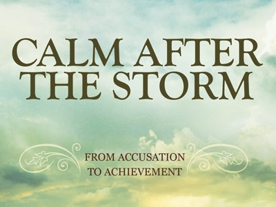Calm after the storm church flyer template 400