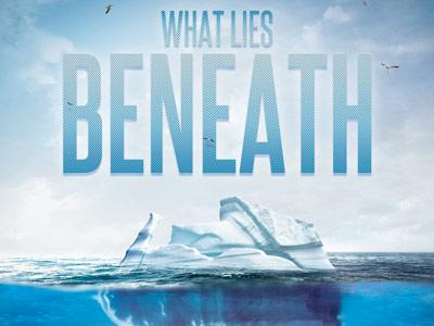 What lies beneath church flyer template 400