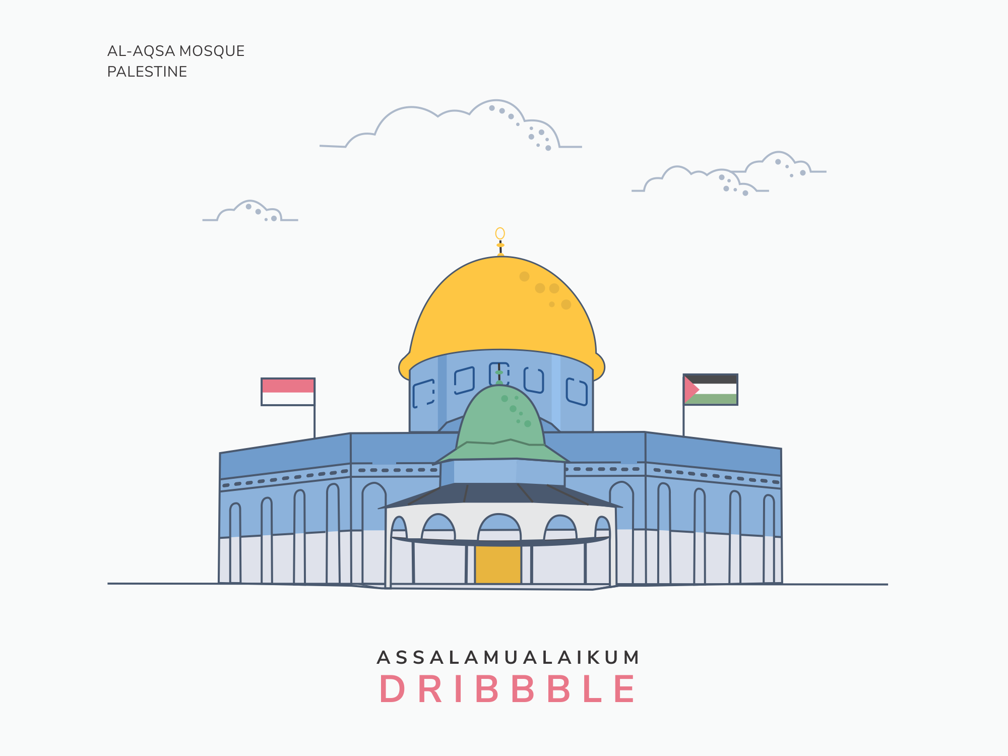 Al Aqsa Mosque Palestine By Imam Sutono On Dribbble
