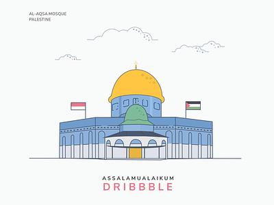 Al Aqsa Mosque - Palestine firstshot palestine mosque alaqsa building vector illustration