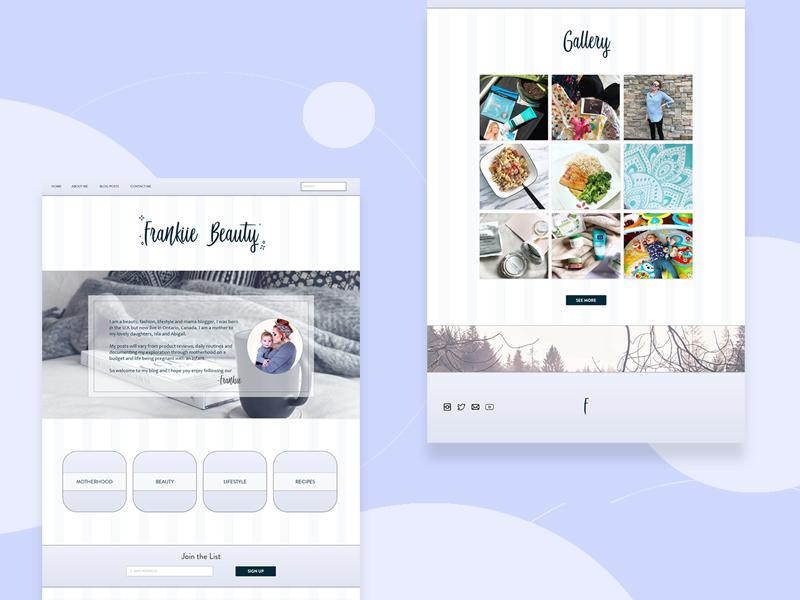 Frankiie Beauty Mock Up - Web Design web design adobe xd design ui