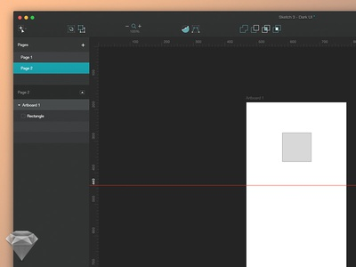 Sketch 3 Dark UI