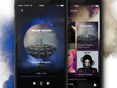 iOS Music app player ui colors design layout ios app music