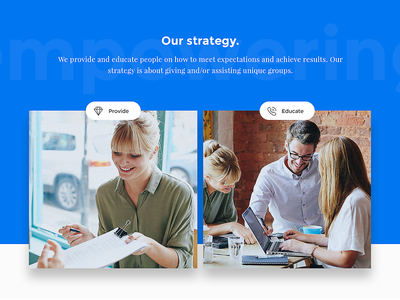 Our Strategy - shot from a new project flat clean pics ux ui layout web strategy