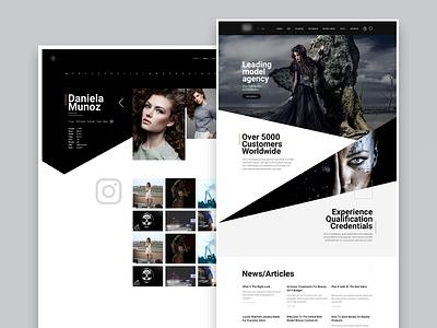 Model agency agency models sidenav slider home modern clean dark design layout ux ui