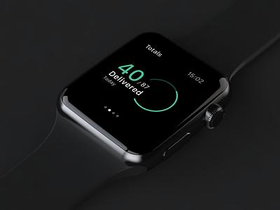 WatchOS app apple watch apple watch watchos modern clean dark design layout ux ui