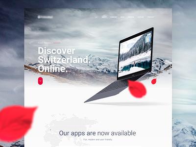 Visit Switzerland landing page webdesign web clean layout homepage landing page design ux ui