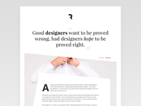 Creating the design of my future blog