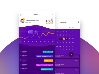 Gamification App trending colors gradient layout ui ux ios gamification app