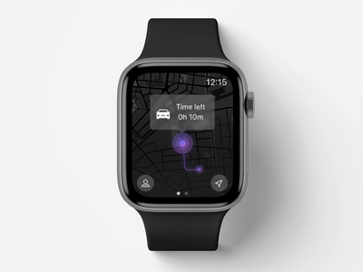 Apple Watch | Parking Prolongation App uidesigns app design parking prolongation parking app parking app animation ui animation watch smartwatch app uidesign design smartwatch apple watch apple ui design ui