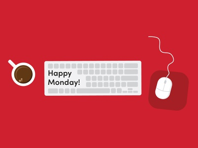 Monday Morning coffee marketing business vector monday email marketing email branding illustration design