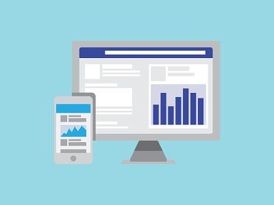 Social Montiors Graphic marketing social media marketing socialmedia statistics stats social computer vector illustration design branding