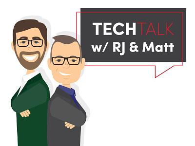 RevLocal TechTalk Branding technology techtalk character podcast youtube business marketing vector illustration design branding