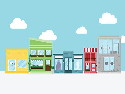 Storefront graphic owner illustrations flatgraphic business marketing vector illustration design branding
