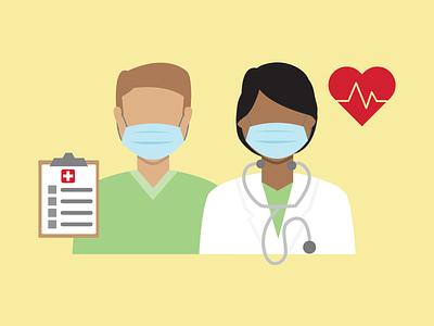 Medical Campaign Graphic flatgraphic medical nurse doctor business marketing vector illustration design branding