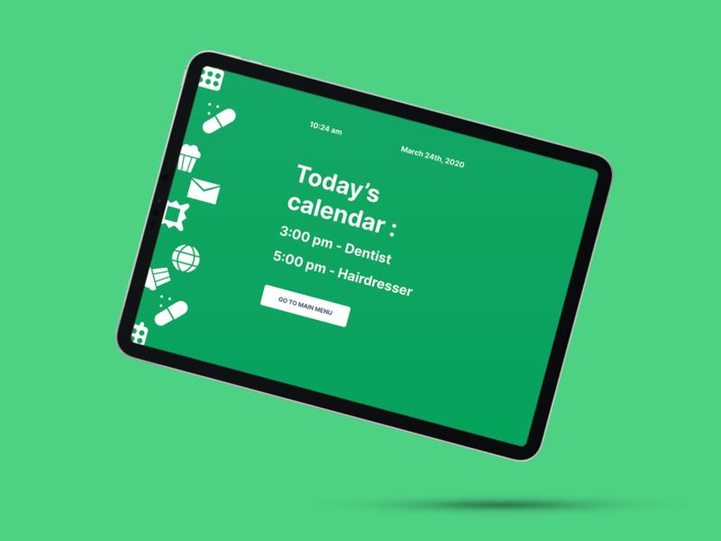 Senior's app - Idle screen health elderly seniors health app ui healthcare