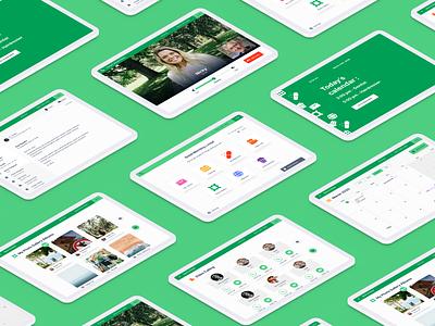 Senior's app Overview caregiver accessibility elderly seniors app ui healthcare health app design