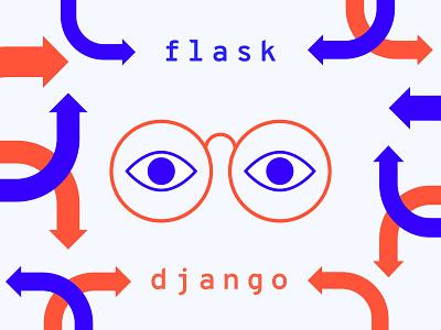 Custom Blog Covers for Tech Company process boston django flask technology tech design vector illustration
