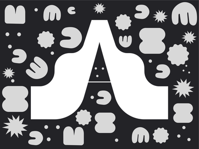 Night in the desert typography dark ui dark theme flat web icon branding typography illustration ui design