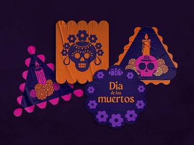 🏵️💀🏵️Día de muertos stickers digital tradition stickers día de muertos mexico design icon illustration vector