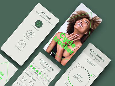 Cycle Tracker flat minimal ux typography app healthcare health app branding ui