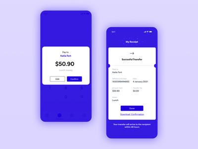 Fintech App - Transfer process Part 2 financial app fintech branding ui ux fintech finance fintech app