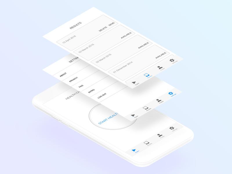 Ux Prototype for Healthcare app prototyping health app app wire frames ux  ui healthcare ux design design