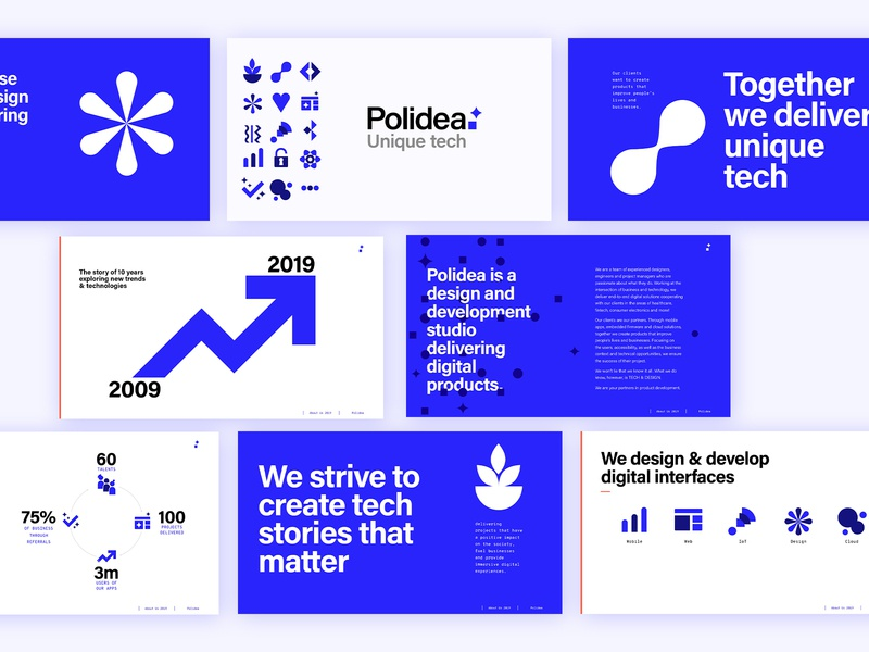 Polidea's Presentation slides it presentation layout presentation design rebranding branding design