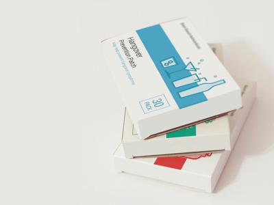 Packaging for a set of topical patches