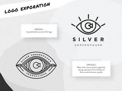 Logo Exploration branding logo hamsa eye