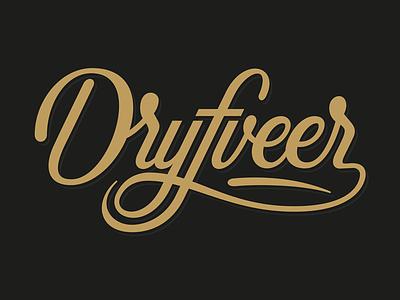 Drijfveer Logo design vector script sign typography custom logo logodesign handlettering