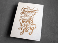 Letterpress poster A3 'Showing off'