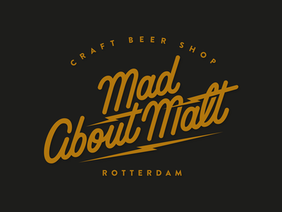 MAD ABOUT MALT Logo design customlettering madaboutmalt craftbeer script handlettering logodesign