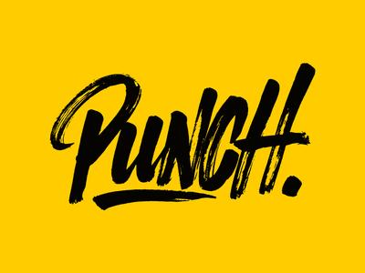 Punch. punch brushlettering script typography custom handlettering