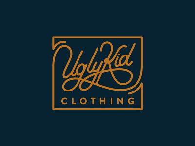 Ugly Kid Clothing: LABEL LOGO handlettering teedesign tshirt tee custom typography logo sign script uglykidclothing