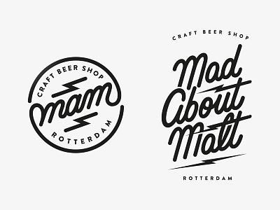 Mam Rtterdam logo's madaboutmalt identity handlettering logodesign