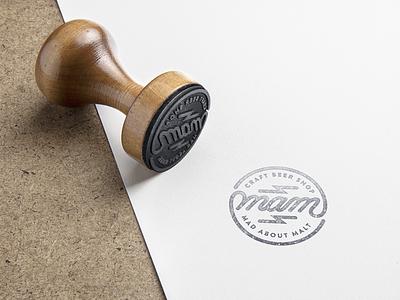 Mad About Malt stamp design vector handlettering madaboutmalt stampdesign logodesign