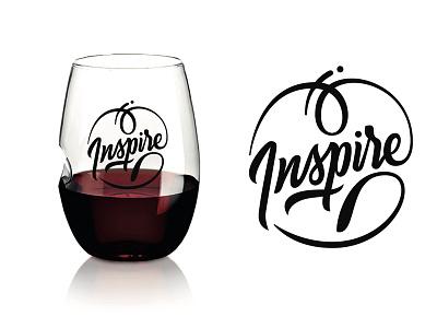 Govino wineglass - Inspire wineglass brushscript lettering brush script dream relax love inspire govino handlettering