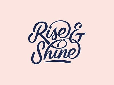 Rise & Shine for Quotecap® snapcase cap monogram logo handlettering riseshine