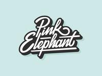 Pink Elephant logo design
