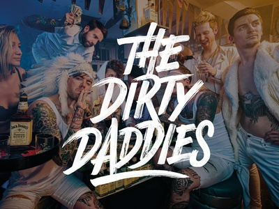 Logo design for 'The Dirty Daddies' lettering brush handlettering daddies dirty design logo