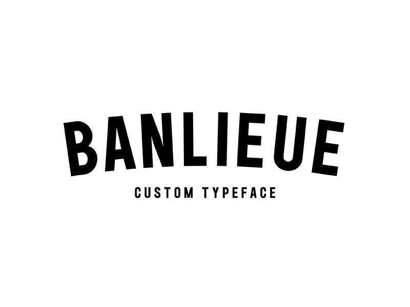 Custom Typeface for Banlieue Clothing by BIJDEVLEET on Dribbble