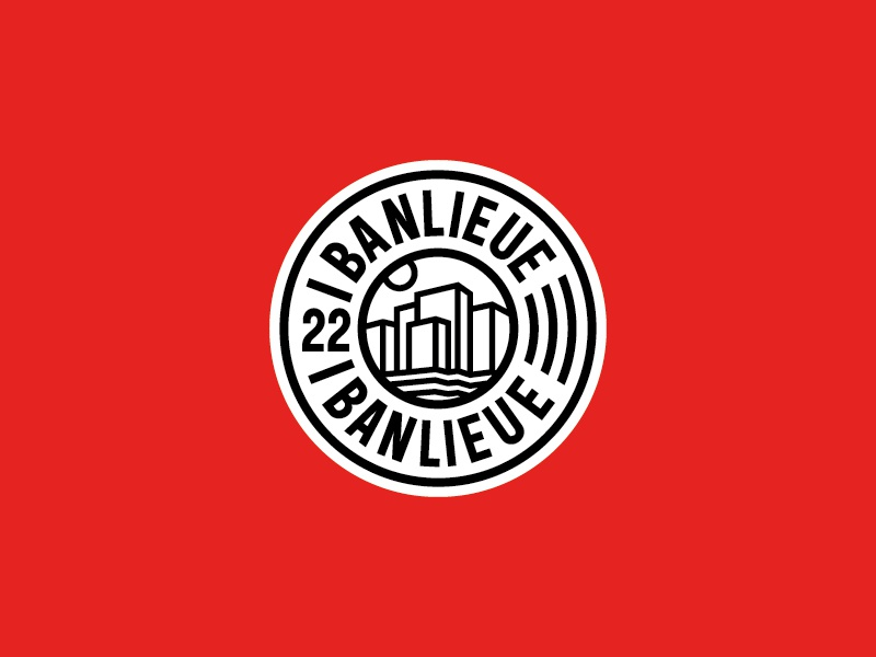 Banlieue Patch Design design truetype typeface logo embroidery patch