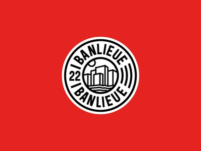 Banlieue Patch Design design truetype typeface logo embroidery patch