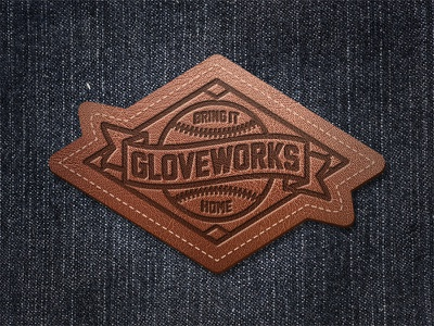 Gloveworks Leather Patch customize design patch leather baseball gloveworks
