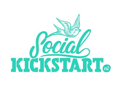 Logo design for Social Kickstart script handlettering kickstart social bijdevleet resuk illustration design logo