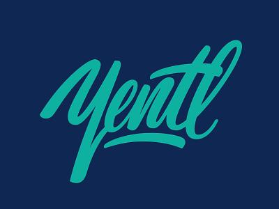 Yentl Logo brushlettering logolettering handlettering dancer yentl design logo