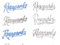 Rosaparks logo schetsen